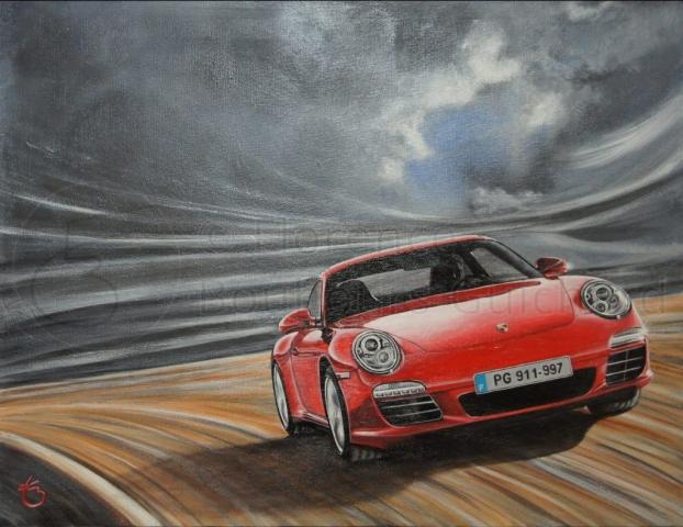 « Allure grisante » acrylique sur toile – 40X50 cm