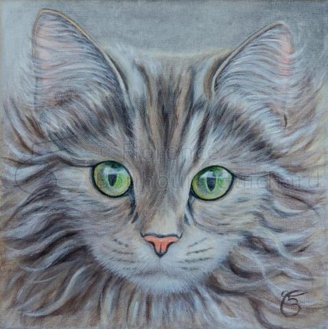 « Babouchka » Acrylique sur toile – 25X25 cm