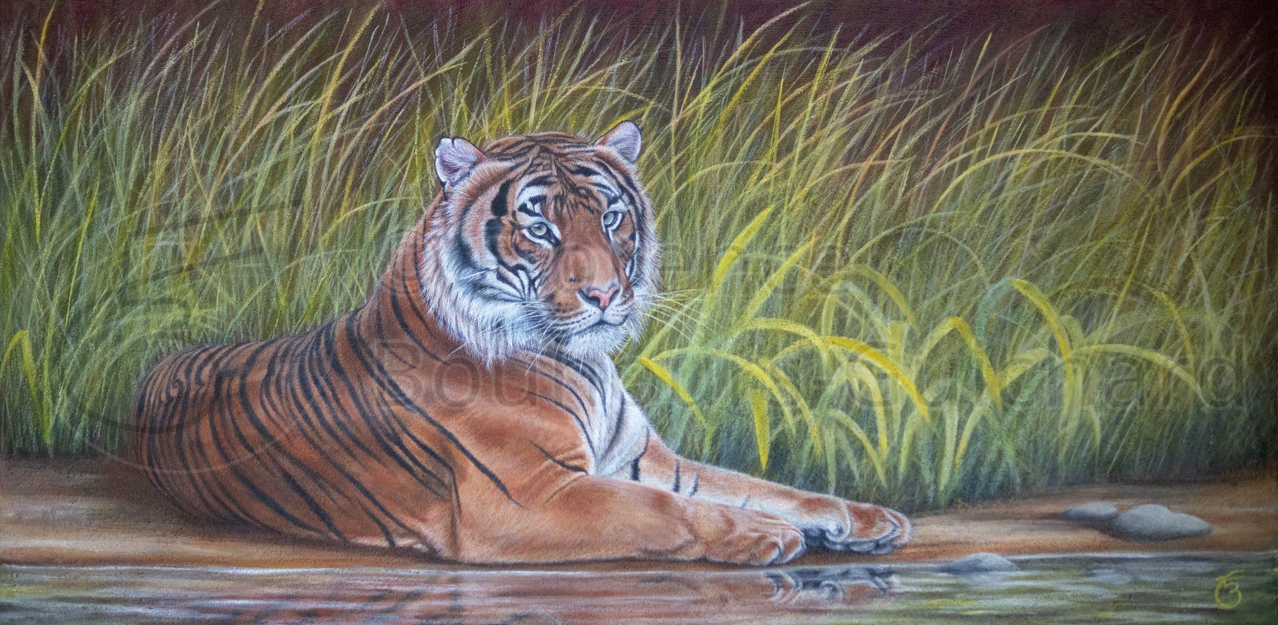 « Le roi d'Asie » acrylique sur toile – 40X120 cm