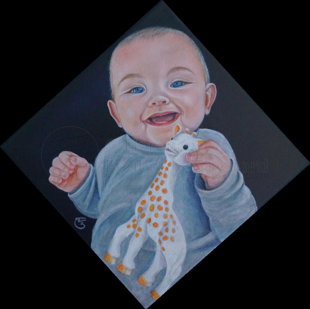 « Mathias … et Sophie » acrylique sur toile 20×20 cm