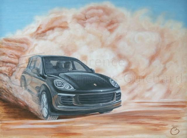 « Poudre du désert » acrylique sur panneau – 60X80 cm