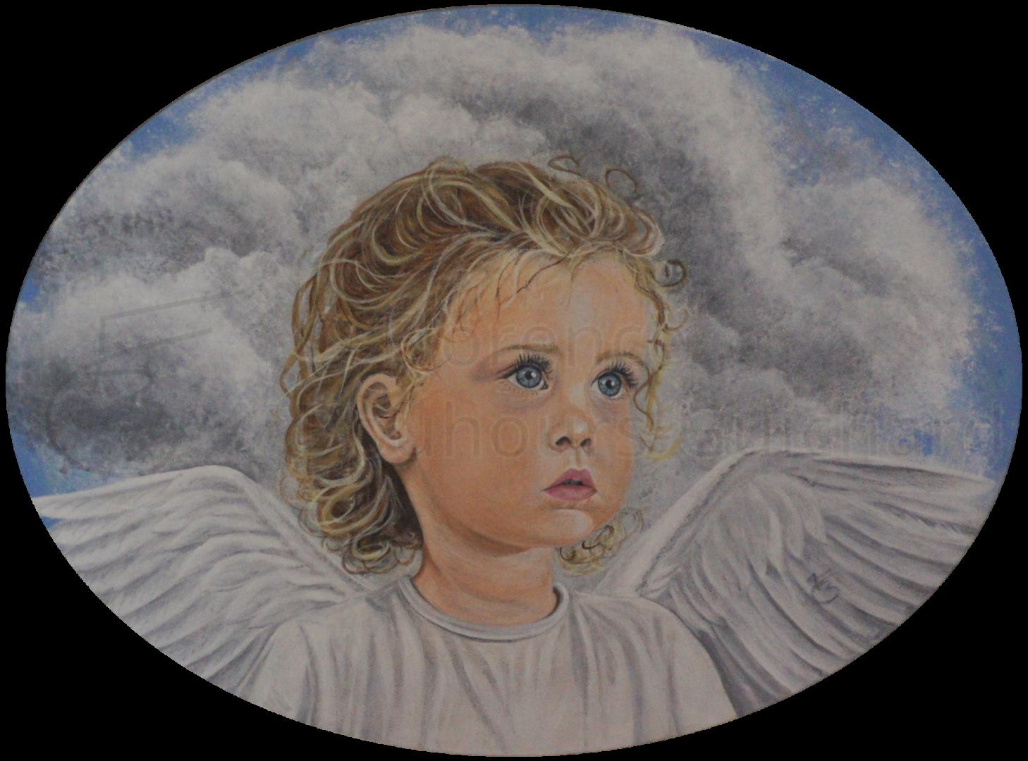 « Un ange pour Pauline » acrylique sur toile 40×50 cm