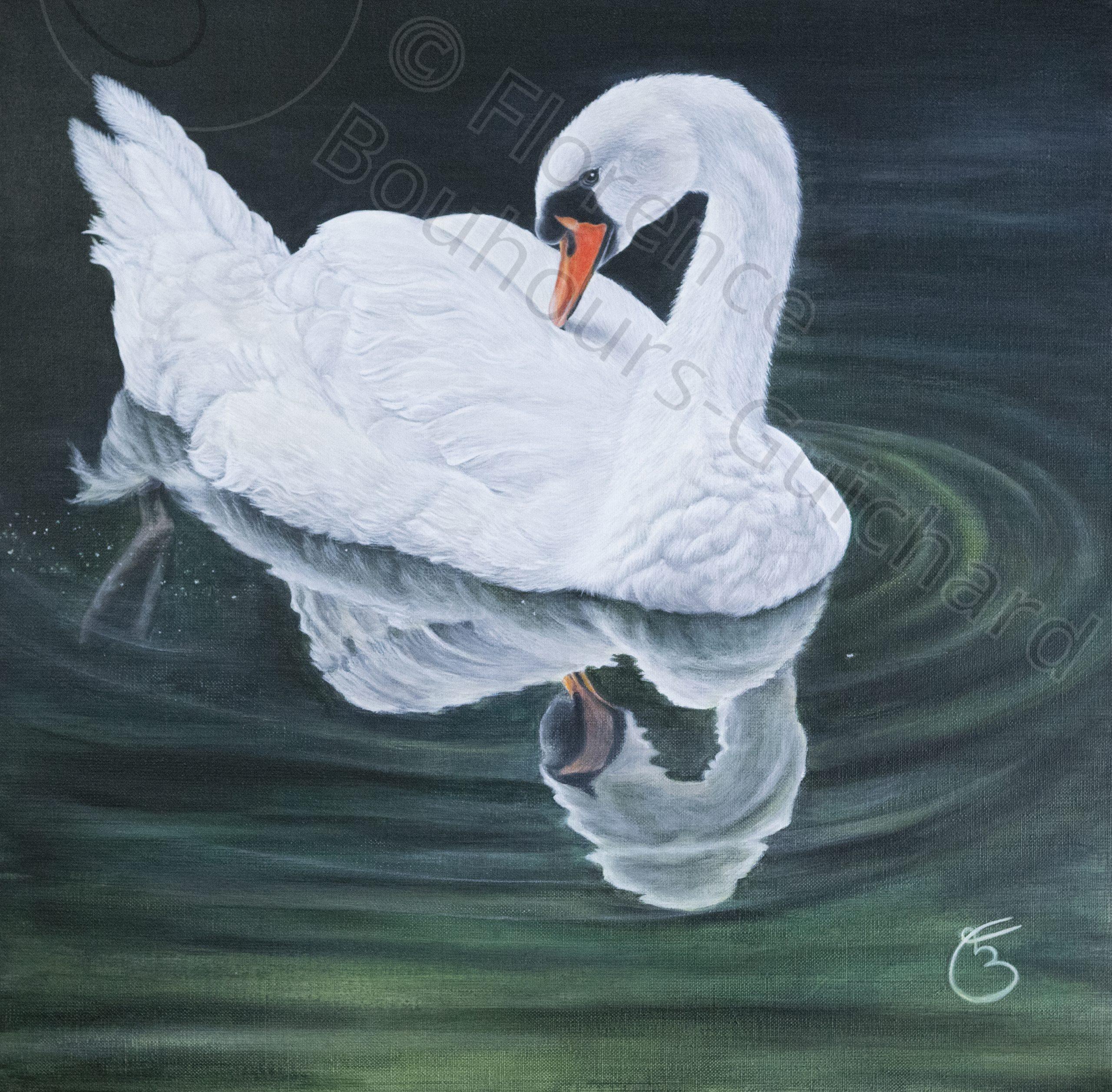 « Immaculée flottaison », acrylique sur toile 50x50 cm